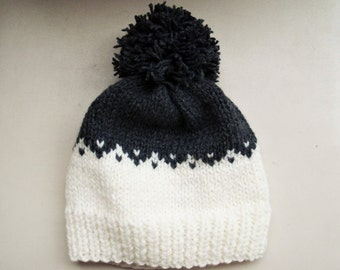 Bonnet en tricot Fair isle bonnet tricot bonnet jacquard bonnet beanie chapeau bonnet à la main