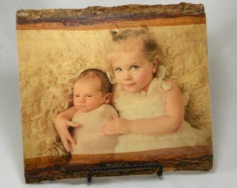 Wood Photo Transfer, Rustic Wood Picture Frames, Gifts for Mom, Photo Printed on Wood, Birthday Gifts for Her, Photos on Wood, Wood Planks
