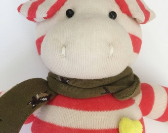 A Handmade Cute Pig Doll. Animal handmade doll. Textile doll, Home Decoration doll, Good Gift For Cool Friends