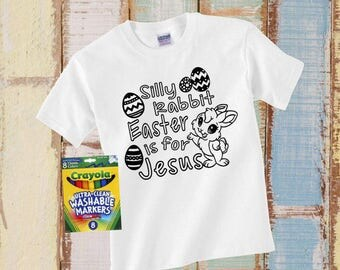 Silly Rabbit Easter Shirt, Easter Gift, Kid Easter Shirt, Toddler Easter Shirt, Easter Is For Jesus Shirt, Kid Easter Shirt Kids Easter Gift