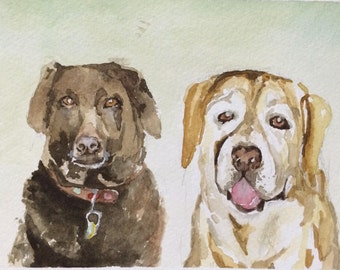 Original Pet Portrait Painting or Drawing