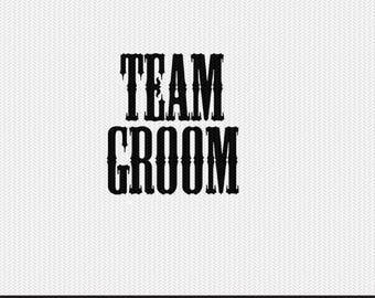 team groom wedding svg dxf file stencil monogram frame silhouette cameo cricut clip art commercial use