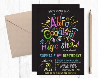 Magic Birthday invitation, Magic Birthday Party, Magic Birthday Invitations, Magic Show, Magic Invitations, Magic Invitation, invites