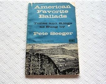 Pete Seeger ..  American Favorite Ballads 1961 Tunes and Songs **  Vintage Songbook