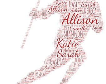 Personalized Lacrosse Poster, Gift For Lacrosse Player, Lacrosse Gift Ideas, Lacrosse Gift Word Art, Lacrosse Team Gift, Lacrosse Print