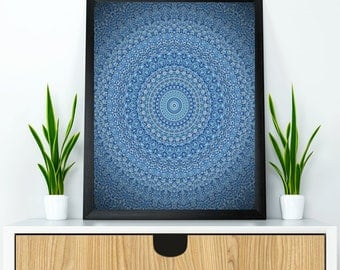 Mandala wall art, Mandala poster, Mandala wall decor, Yoga poster, Yoga wall decor, Meditation wall art, Relaxation wall decor, Mandala gift