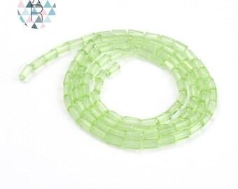 Rectangular glass beads from 4x2mm 45