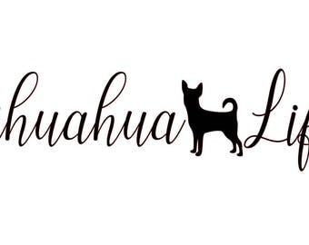 Chihuahua Decal Etsy