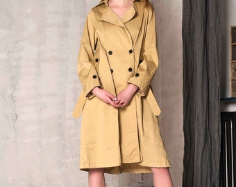 London Beige Trench Casual Dress Trench