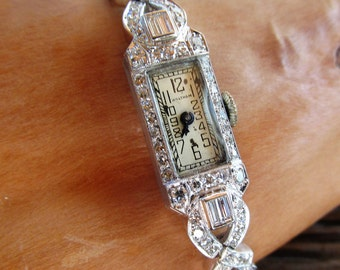 Vintage Ladies Diamond Watch
