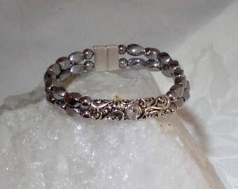 Silver Colored Magnetic Hematite Bracelet
