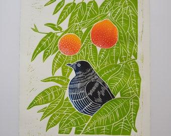 Naranjo - Lino Print
