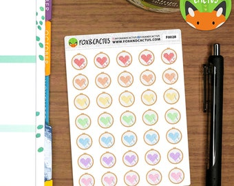 Cross Stitch - Crafting craft sewing - Planner Stickers (F0028)
