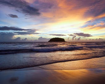 BEACH SUNSET PRINT