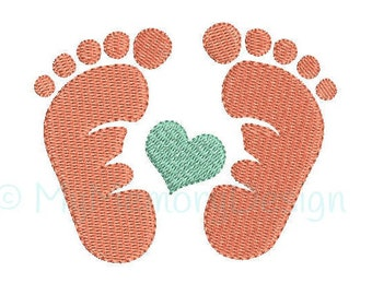 7 sizes Baby feet Embroidery Design - Newborn Embroidery Pattern - Machine embroidery digital dowload file - INSTANT DOWNLOAD