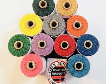 Waxed Linen Thread 4 ply - Crawford