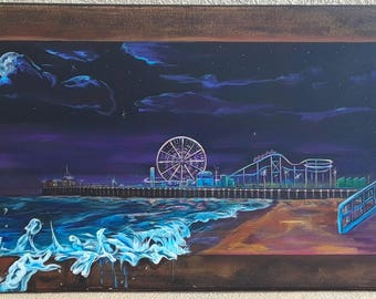 Santa Monica Pier (1 of 1 Original painting)