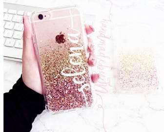Sugar Rose Gold Phone case Samsung galaxy s7 case Samsung galaxy s8 case galaxy s7 edge case Samsung galaxy s8 plus case iPhone x case