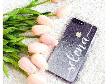 Silver glitter Phone case iPhone 8 case iPhone 8 PLUS case iPhone X case iPhone 10 case iPhone case iPhone se case iphone 5s case