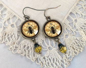 Worker Bee / Honey Bee Earrings