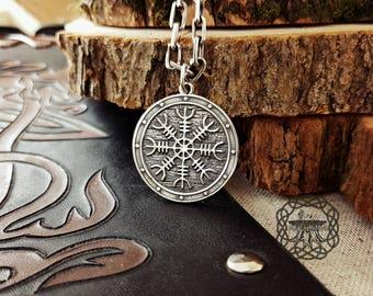 Helm of Awe (Aegishjalmur) Viking Pendant Sterling Silver  Norse Pendant  Viking Jewelry