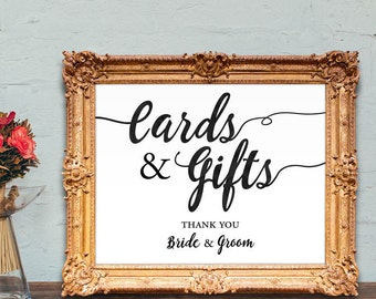 cards and gifts sign - cards and gifts thank you - PRINTABLE - 8x10 - 5x7