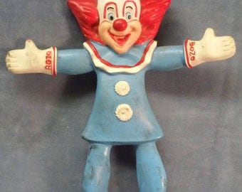 Vintage Rubber Bozo, 1987 Bozo the Clown