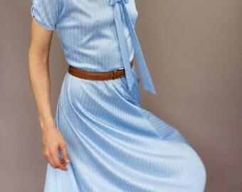Vintage Eyelet Baby Blue Summer Dress
