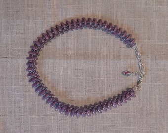 Black/Mauve/Silver and Red Princess style necklaces
