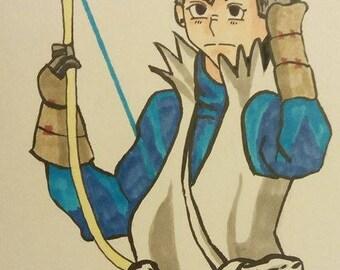 Takumi Fire Emblem| 9x12inches original fan art illustration