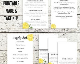 Essential Oil Class Printables | Home Care Make and Take Printables | Young Living