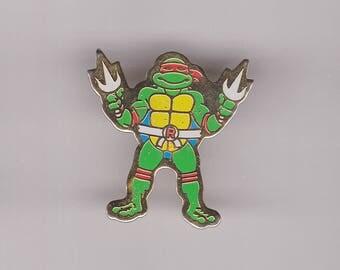 True Vintage RAPHAEL Teenage Mutant Ninja Turtle Pin, Enamel Pin, Pinback, Hat Pin, 80s, 90s, Sonic, Simpsons, X-Men, Spiderman