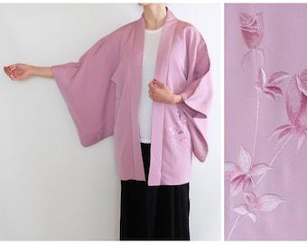 Delicate Flower Emroidered Kimono -