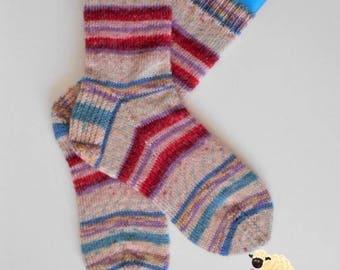 Wool Socks - Women's Size: UK 6-7 / US 8-9 /Mens US 7-8 -  Ready to Ship