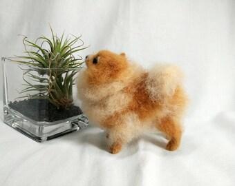 Pomeranian- needle felted pomeranian, needle felted dog, soft sculpture