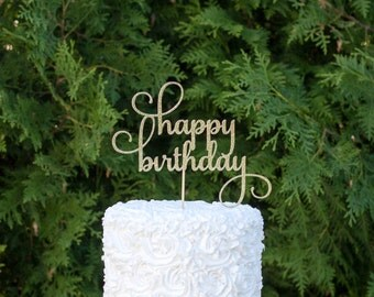 Cake topper - Happy Birthday cake topper, birthday cake topper, birthday decorations, party decorations, birthday party, birthday decoration