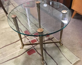 LaBarge Brass Hoof Foot Table