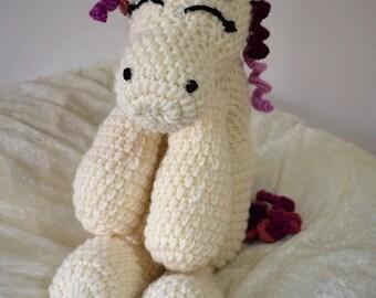 Unicorn personalised crochet soft toy teddy sleeping pony cudderly sleeping unicorn 50cm customisable handmade christmas gift