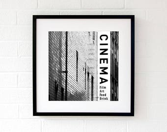 Tyneside Cinema wall art print Newcastle black and white contemporary art Gifts for him 2018 Gift for couples Gifts-for-men Gift-for-husband