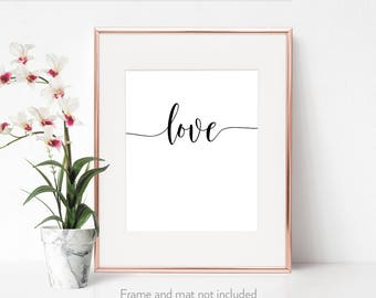 Love print / Trending now / Birthday girlfriend / Handwritten prints / Gift for fiancee / Feminine décor / Fast shipping to USA & UK