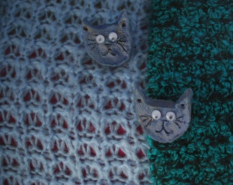 Lo's Depressed Blue Kitten Pins
