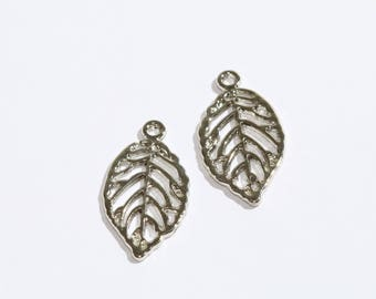 Silver Leaf Charms, Leaf Beads, Leaf, Leaf Pendant SKU/KDR56