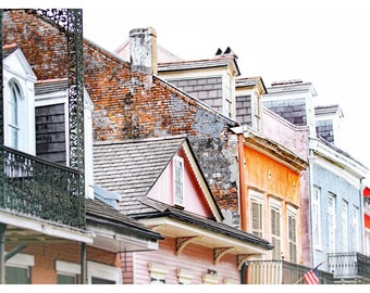 New Orleans photography, French Quarter, NOLA architecture, travel photography,New Orleans home decor, French Quarter streetscape, art print