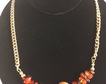Napier Necklace with added Amber plus natural Nautilus Shell Artifact Necklace