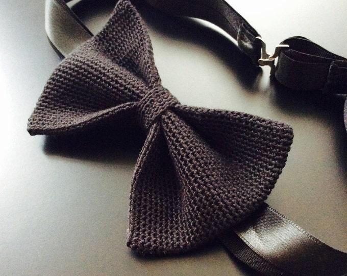 Knit tie, 100% silk, black