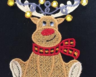 Machined Lace Hanging Christmas Decoration