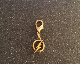The Flash zipper charm with key ring