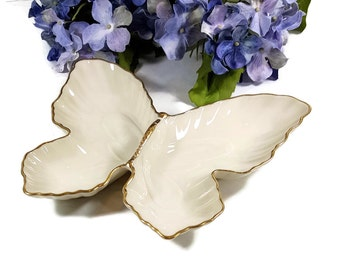 VINTAGE LENOX BUTTERFLY Dish Trinket or Vanity Dish Candy Dish All Labels and Stickers Intact Mothers Day Gift