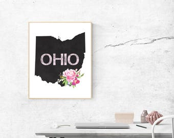 Ohio Wall Art ohio state decor | etsy