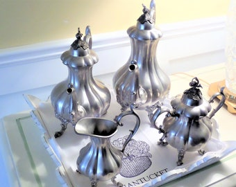 Pewter Tea and Coffee Set by Reed and Barton